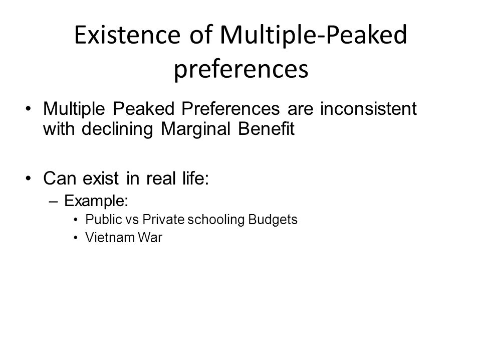 Existence of Multiple-Peaked preferences