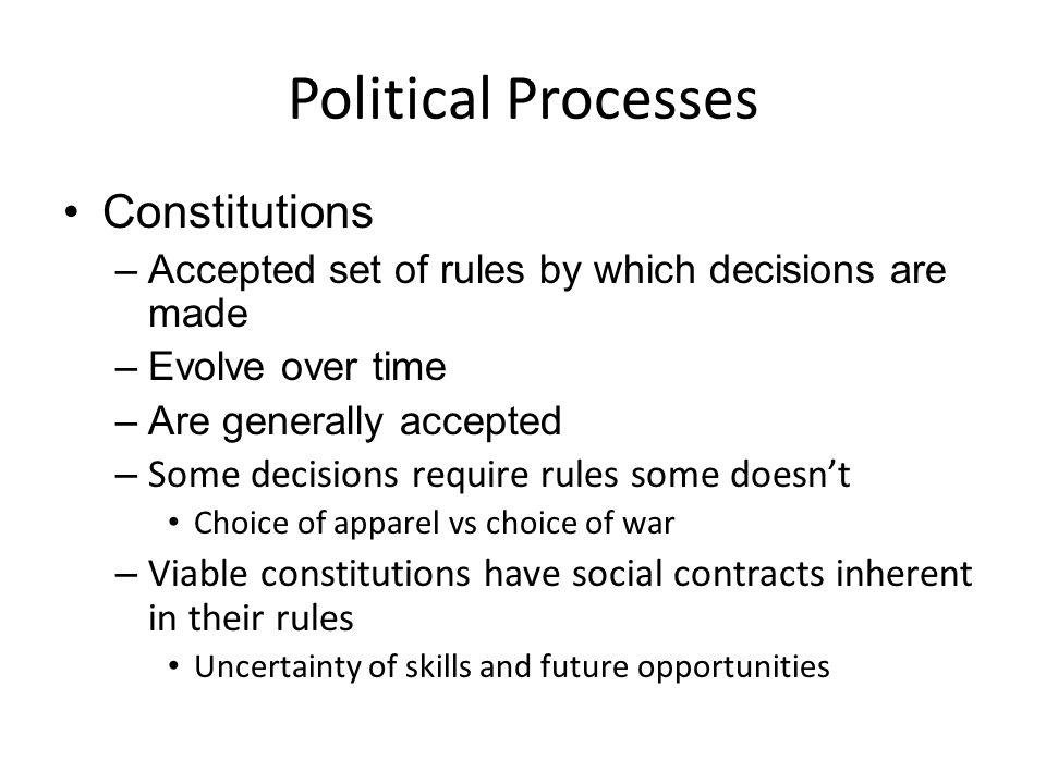 Political Processes Constitutions