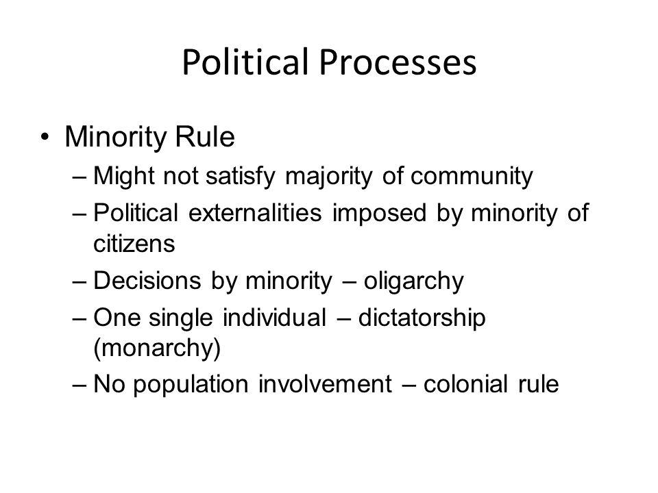 Political Processes Minority Rule