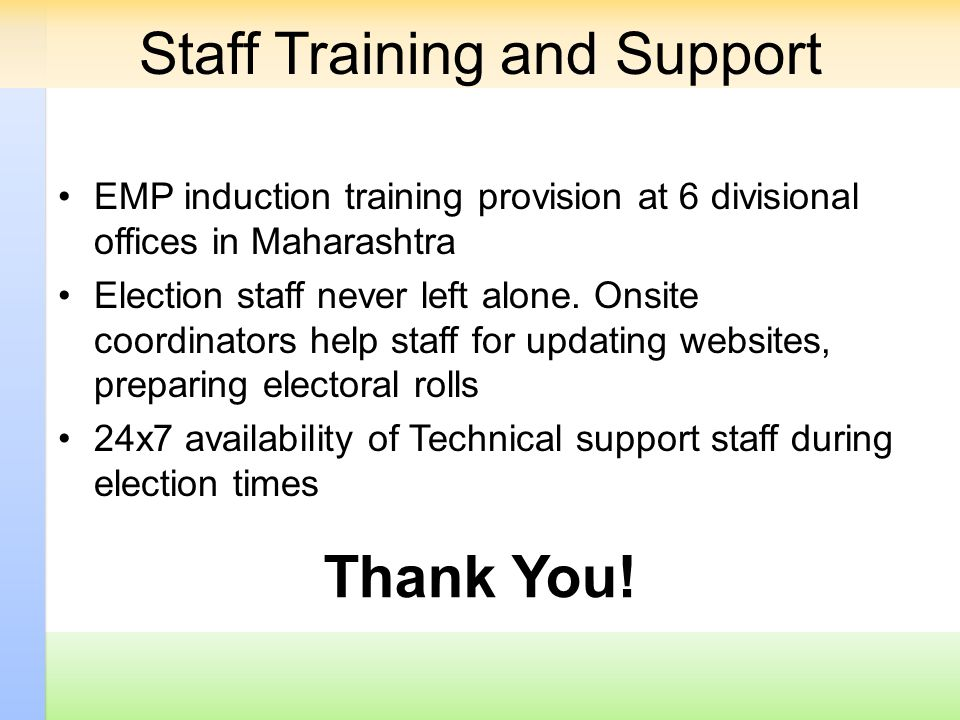 Staff Training and Support