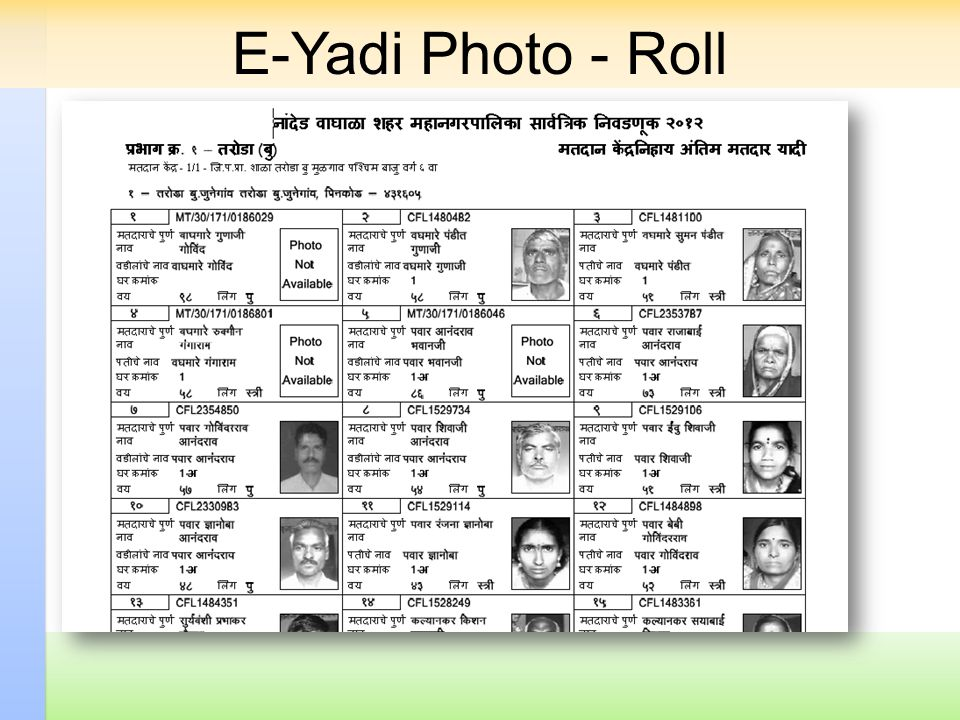 E-Yadi Photo - Roll