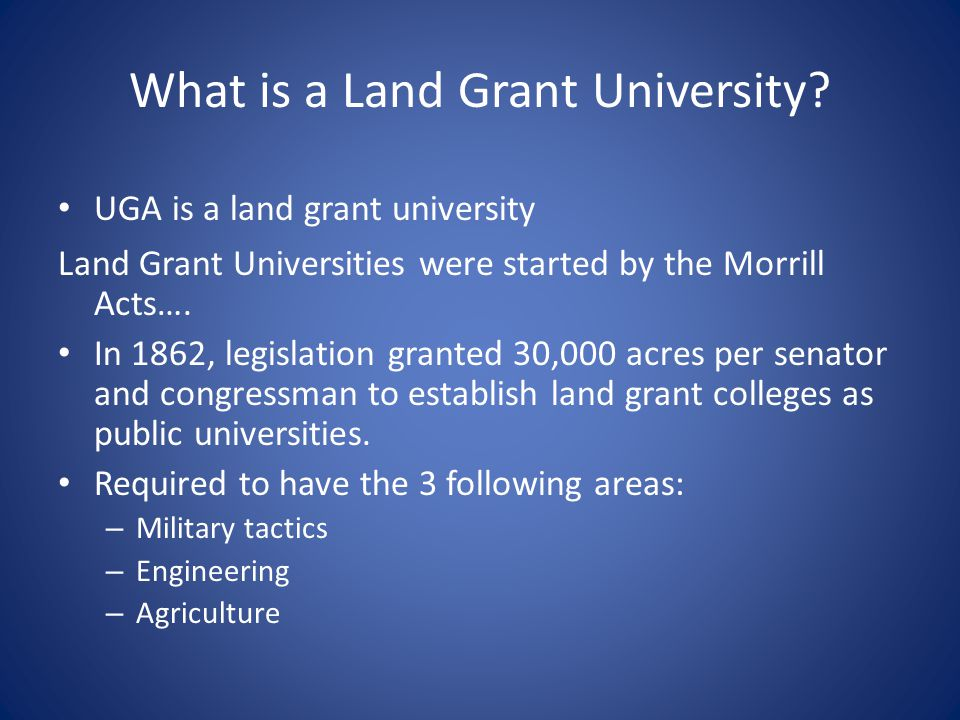 What is a Land Grant University