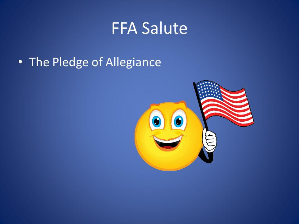 FFA Salute The Pledge of Allegiance