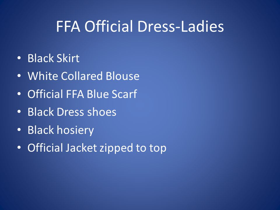 FFA Official Dress-Ladies