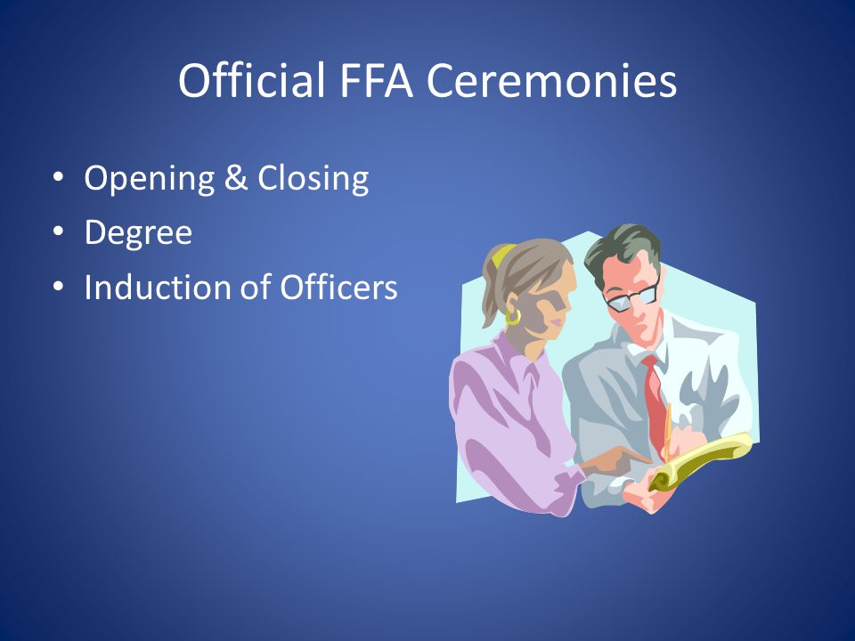 Official FFA Ceremonies