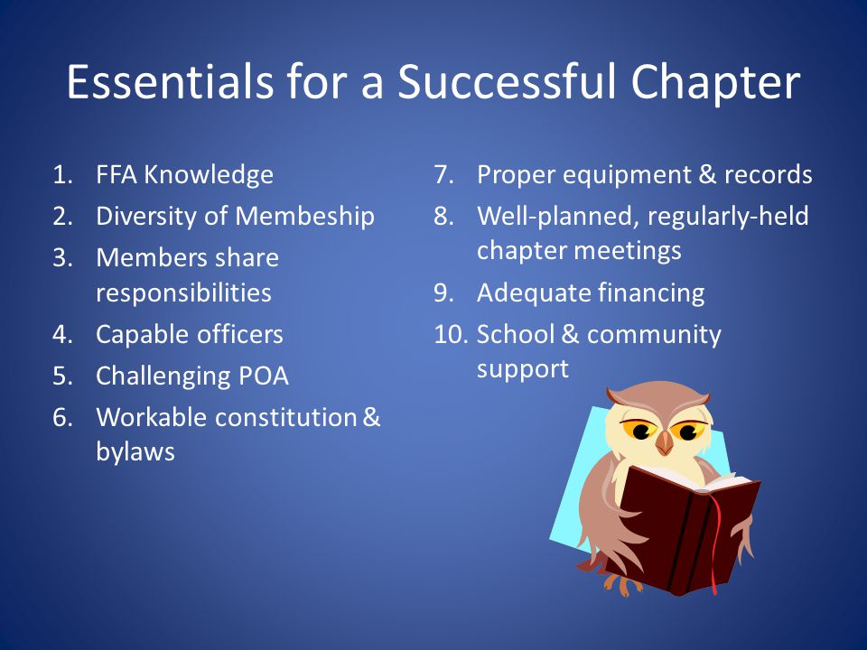 Essentials for a Successful Chapter