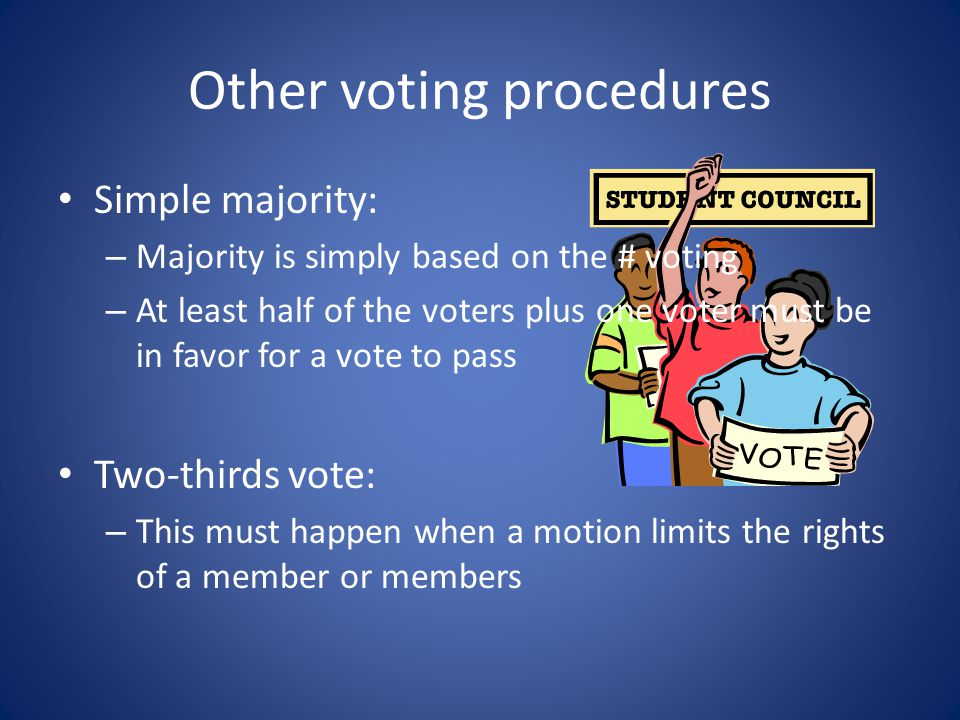 Other voting procedures