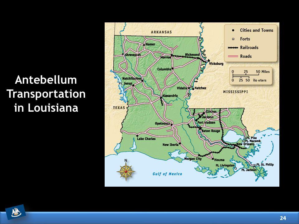 Antebellum Transportation in Louisiana