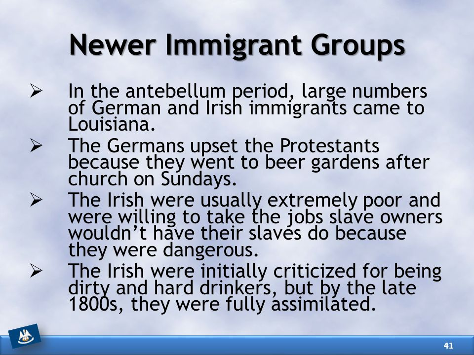 Newer Immigrant Groups