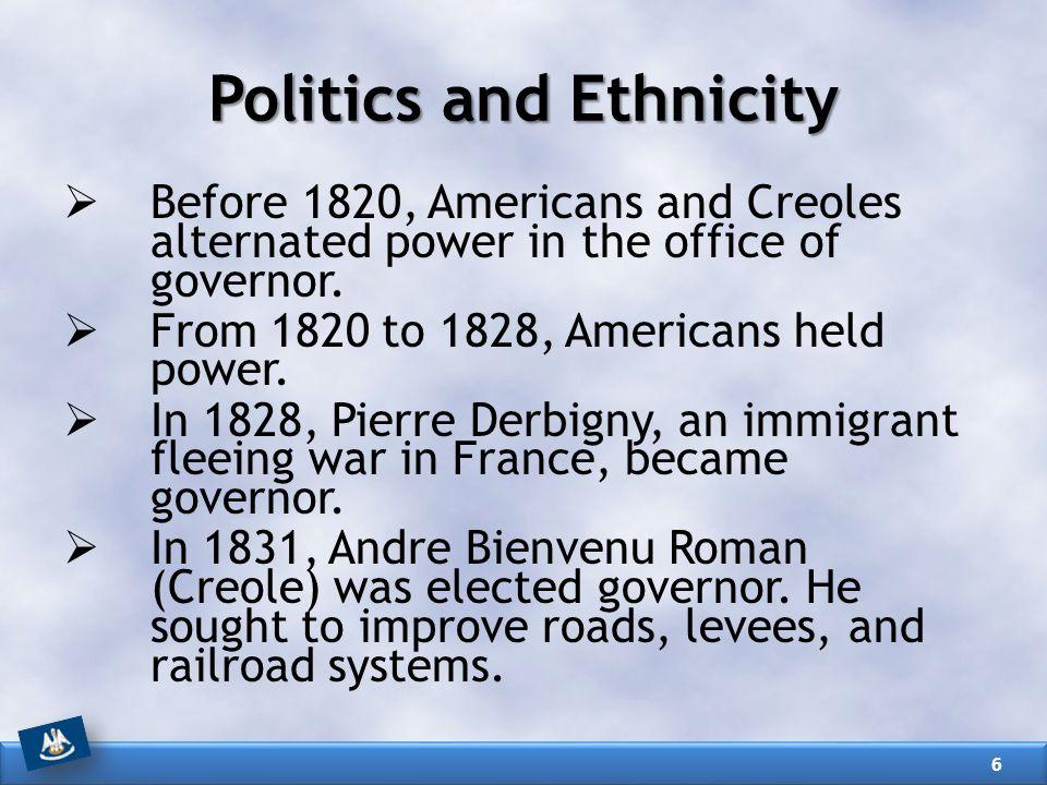 Politics and Ethnicity
