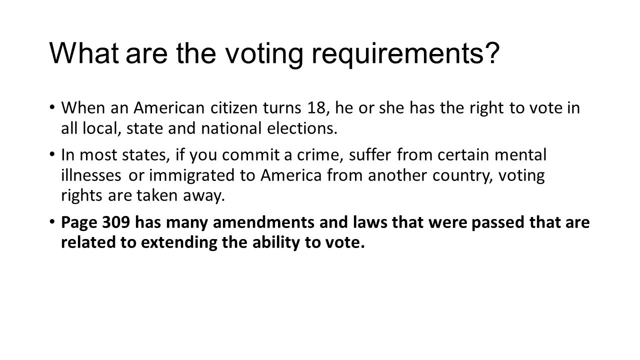 What are the voting requirements
