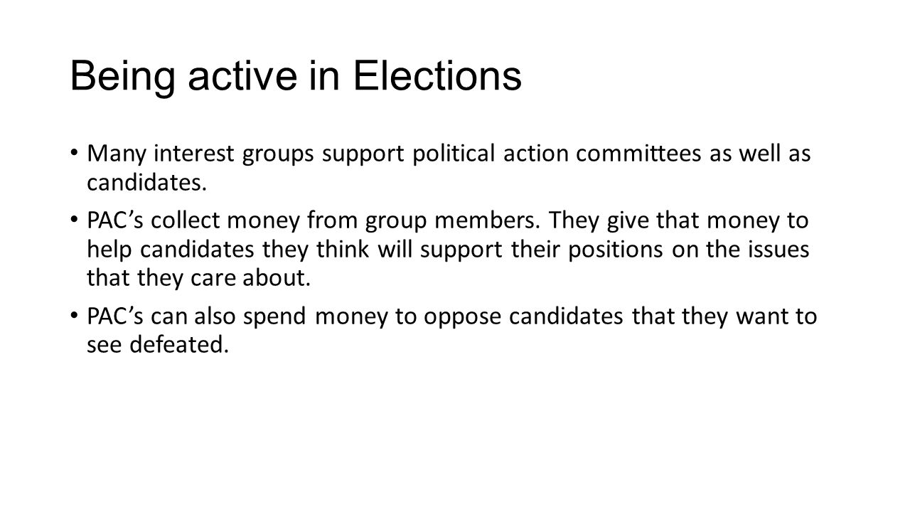 Being active in Elections