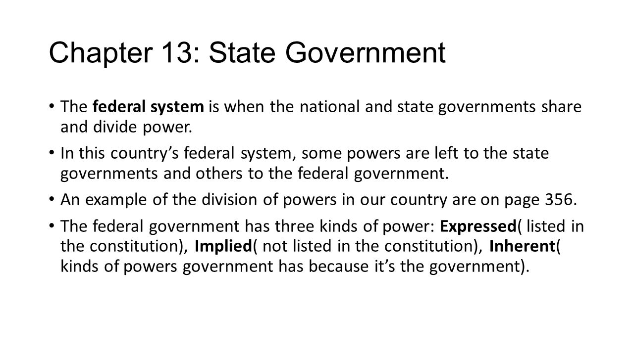 Chapter 13: State Government