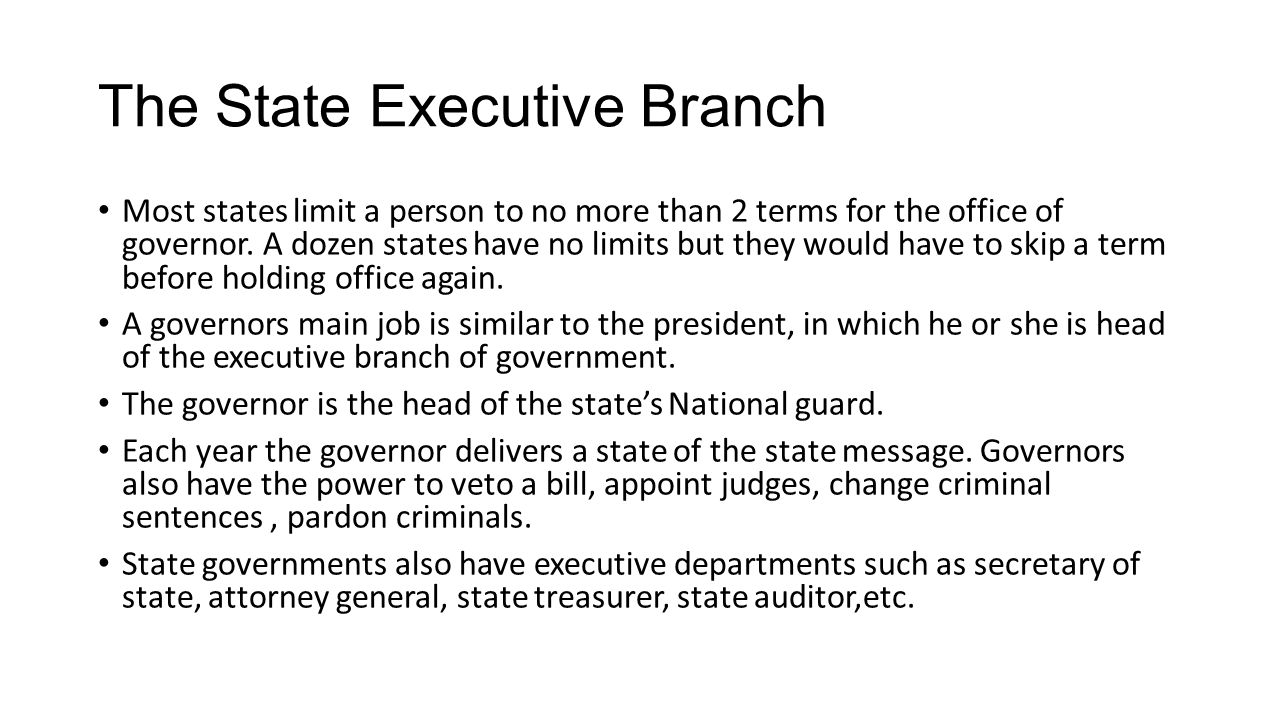 The State Executive Branch