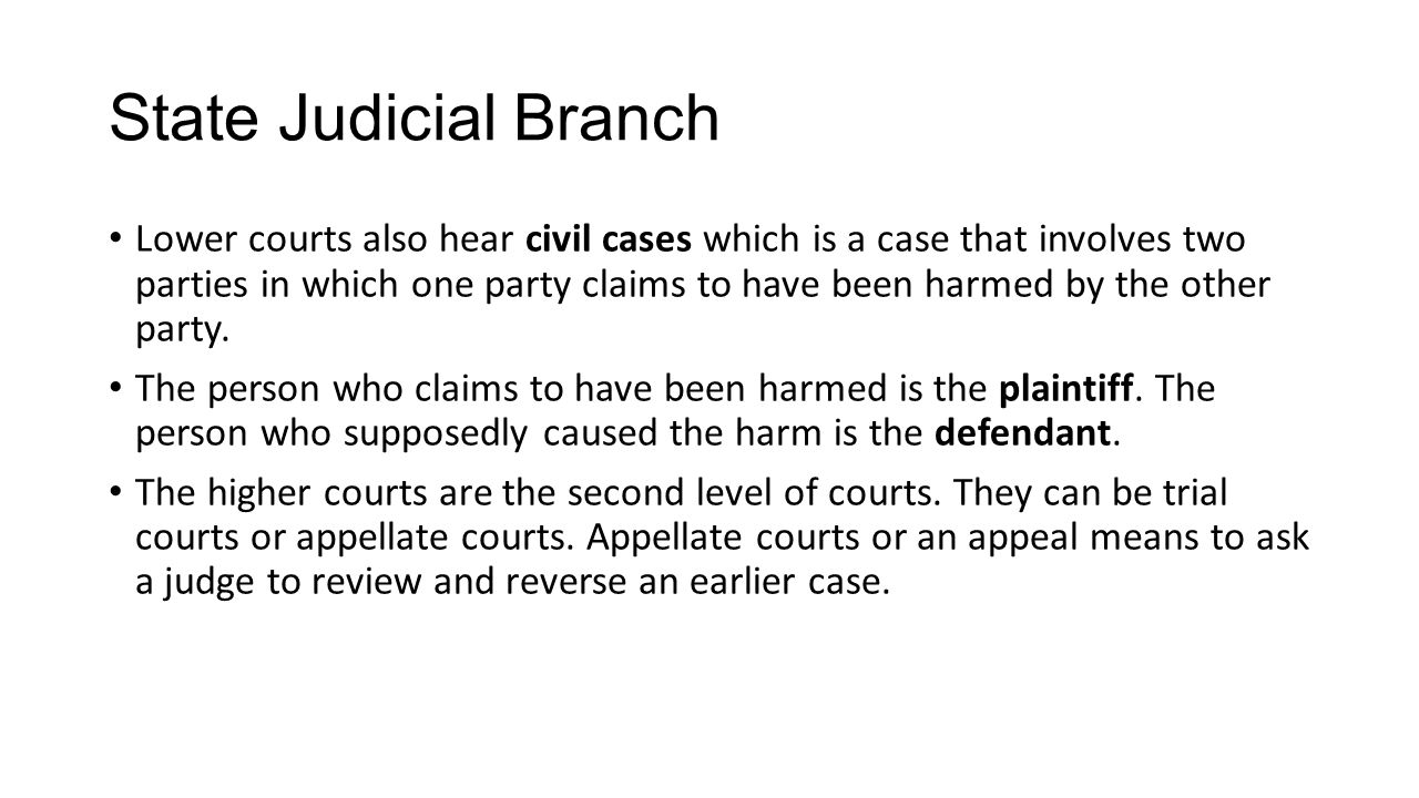State Judicial Branch