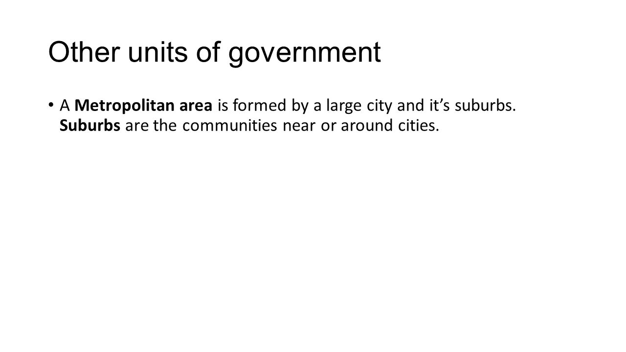 Other units of government