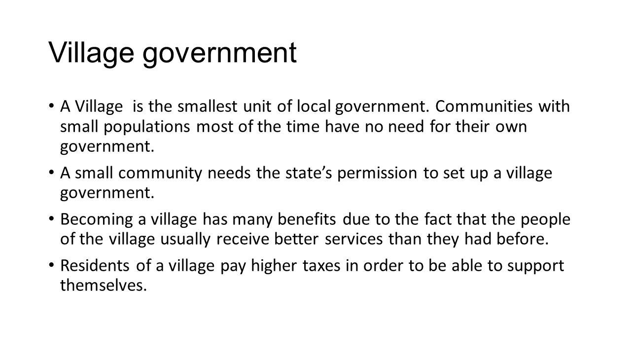 Village government