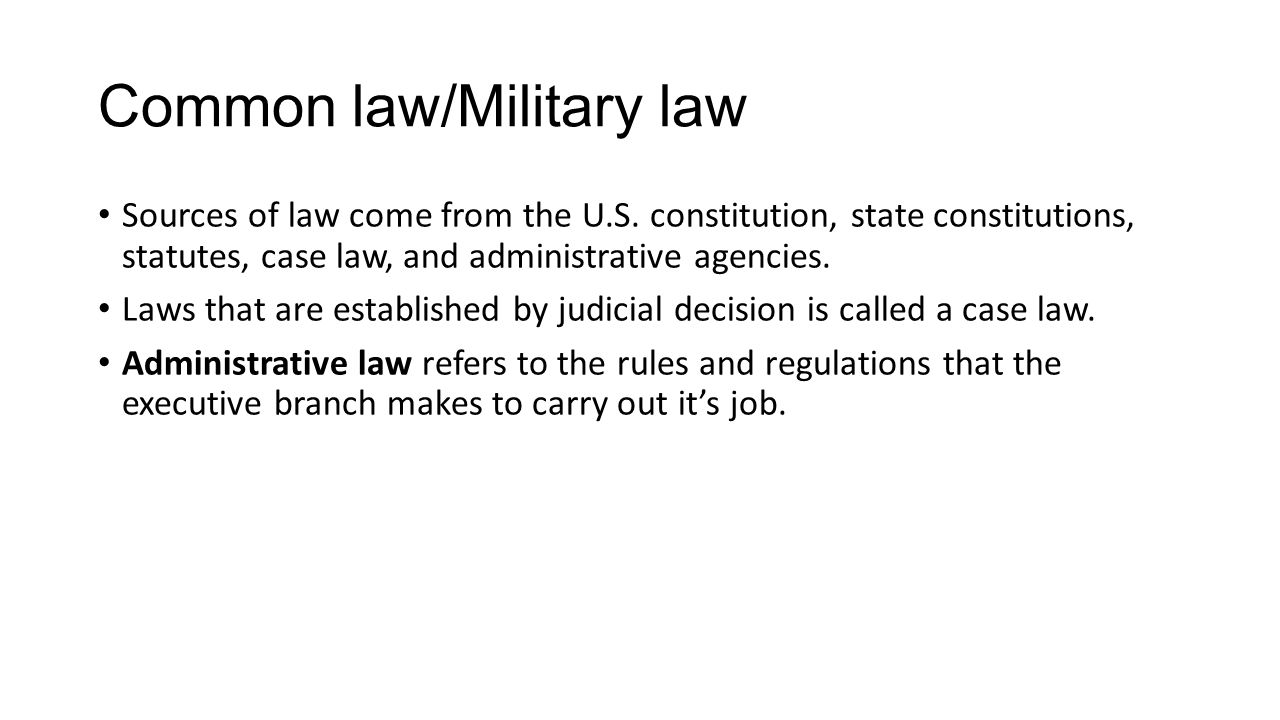Common law/Military law