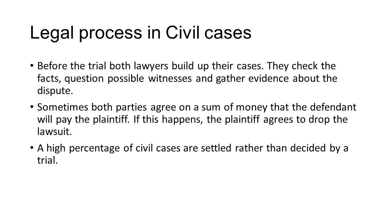 Legal process in Civil cases