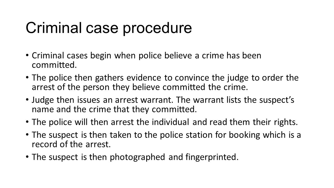 Criminal case procedure