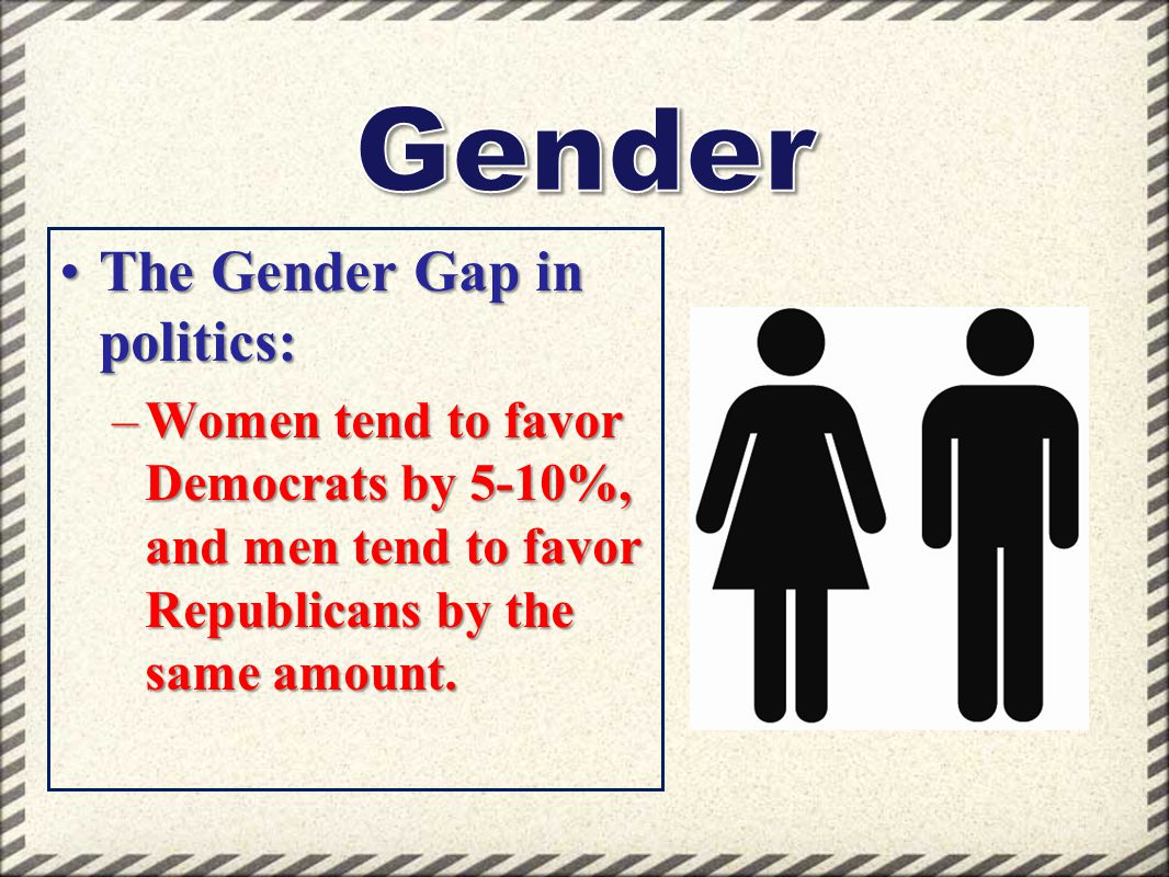 Gender The Gender Gap in politics: