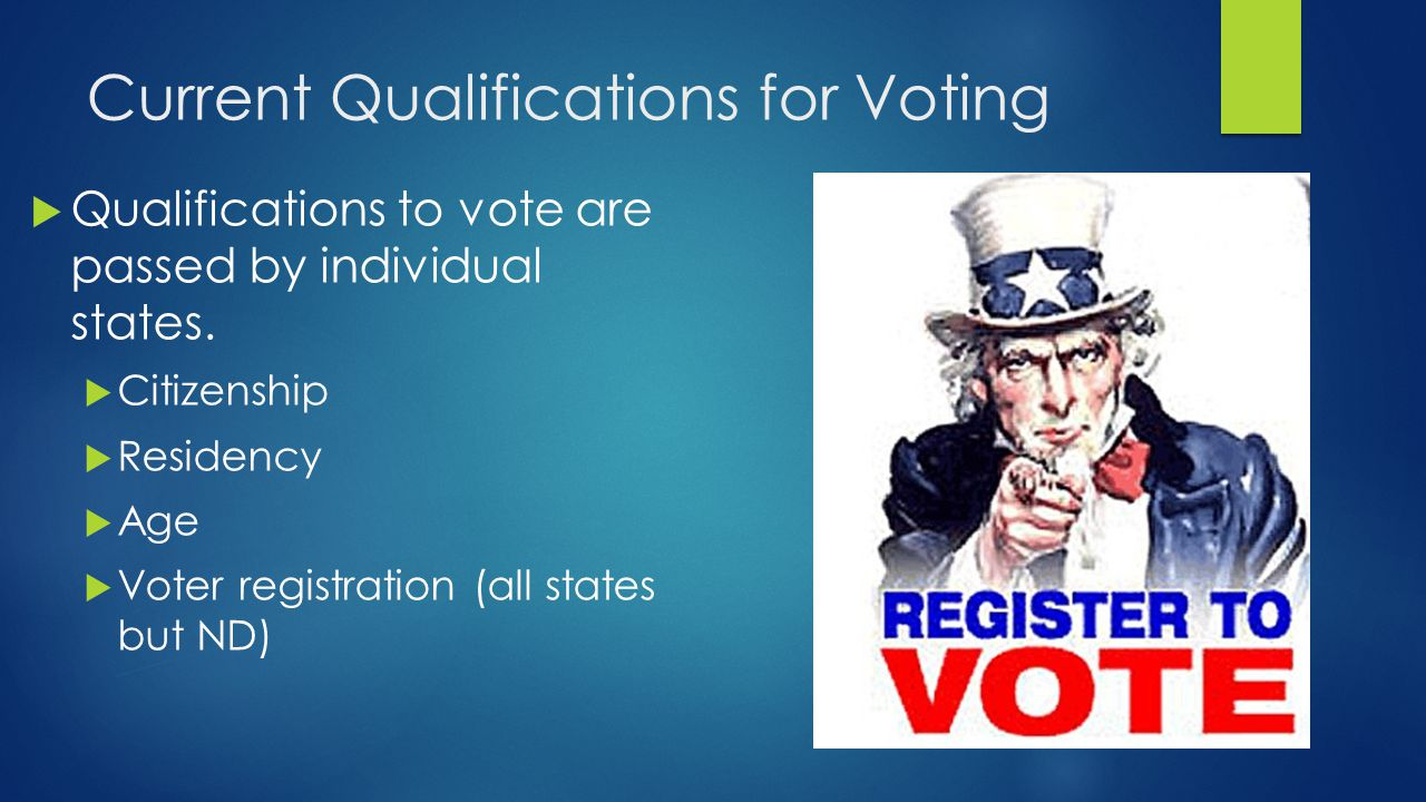 Current Qualifications for Voting