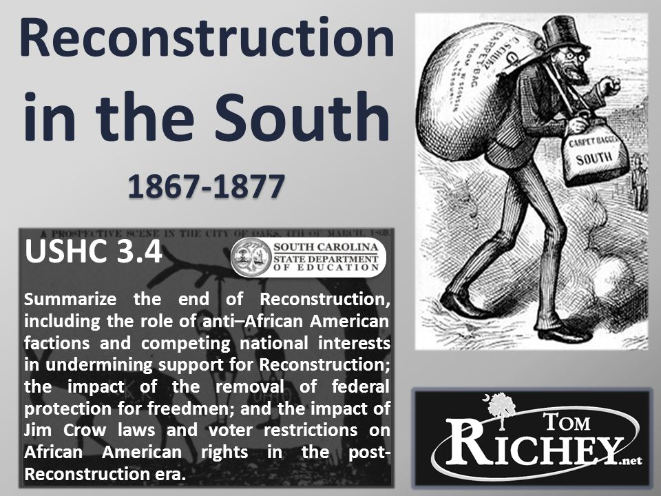 Reconstruction in the South