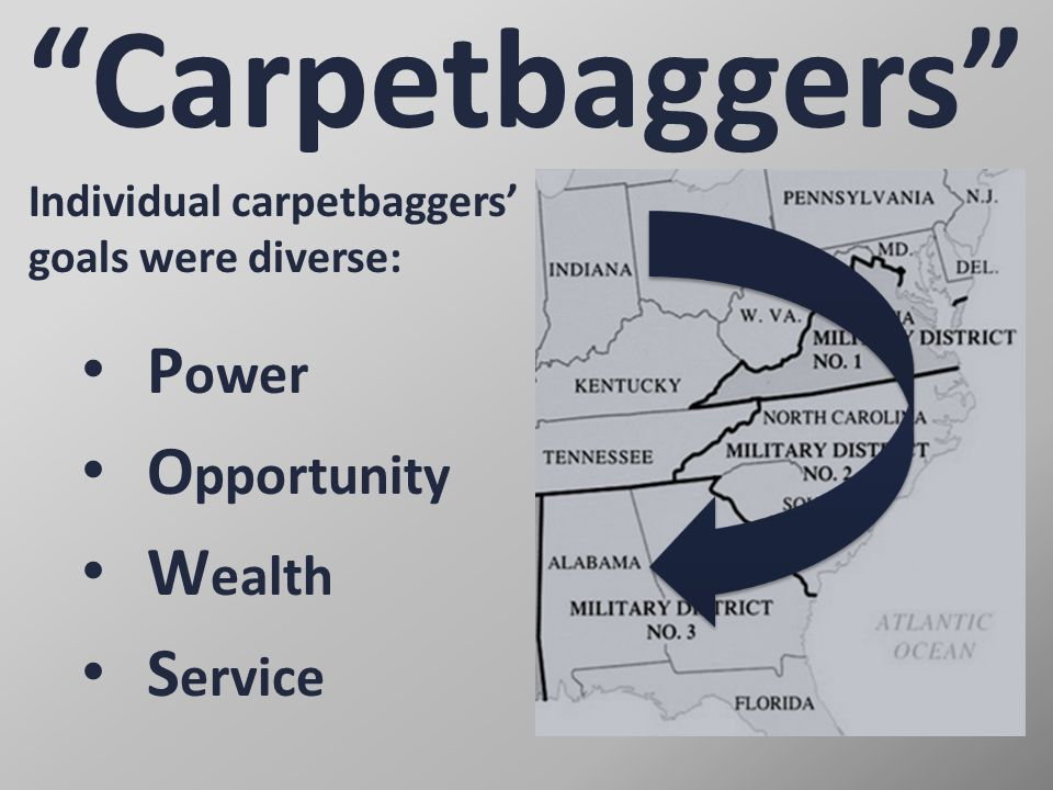 Carpetbaggers Power Opportunity Wealth Service