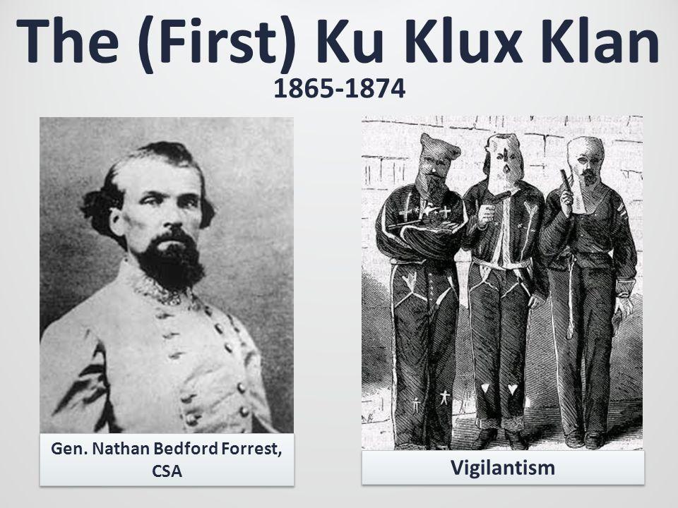 The (First) Ku Klux Klan