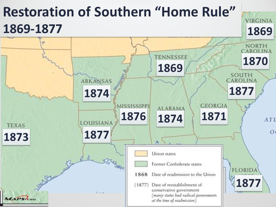 Restoration of Southern Home Rule 1869-1877