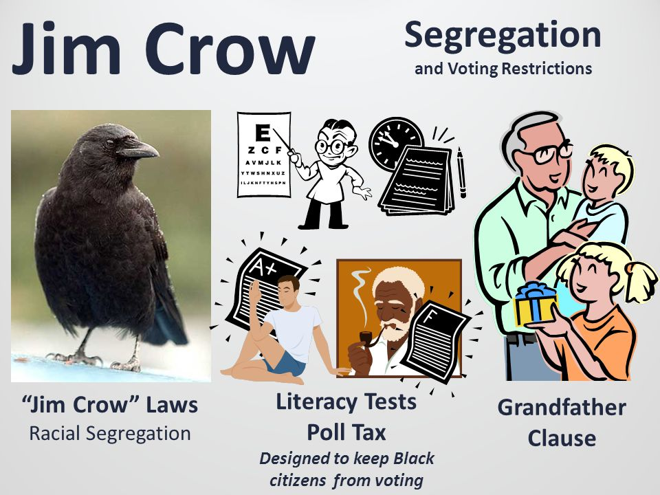 Jim Crow Segregation and Voting Restrictions Literacy Tests