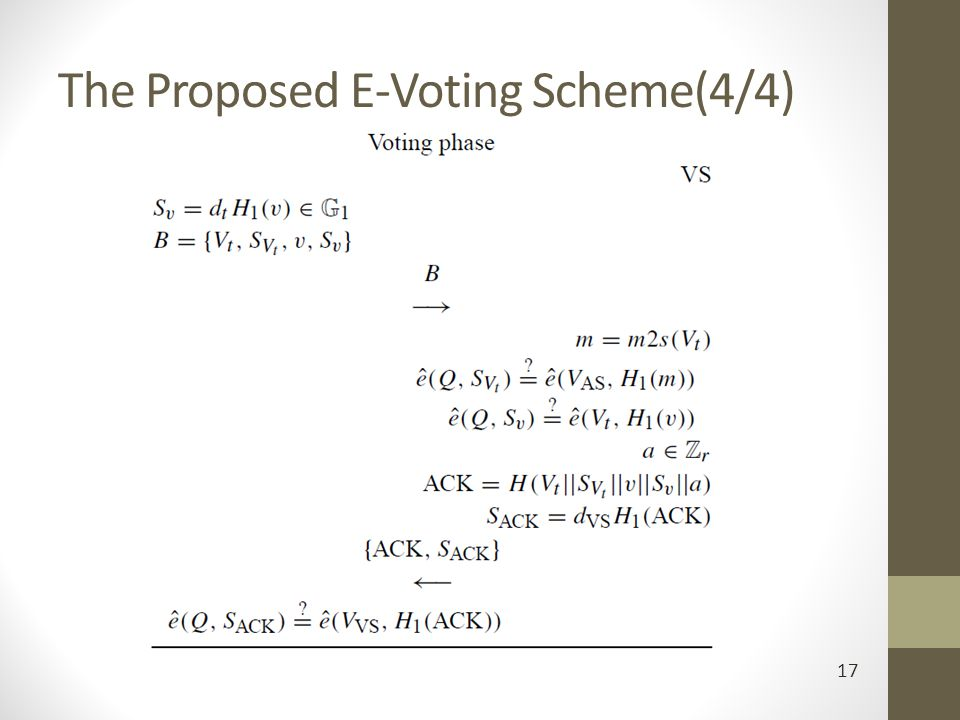 The Proposed E-Voting Scheme(4/4)