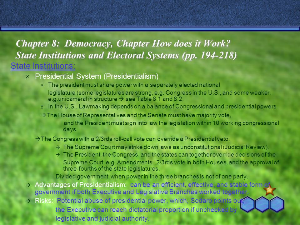 Chapter 8: Democracy, Chapter How does it Work