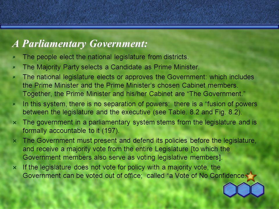 A Parliamentary Government: