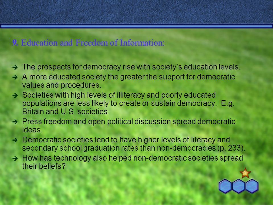 9. Education and Freedom of Information: