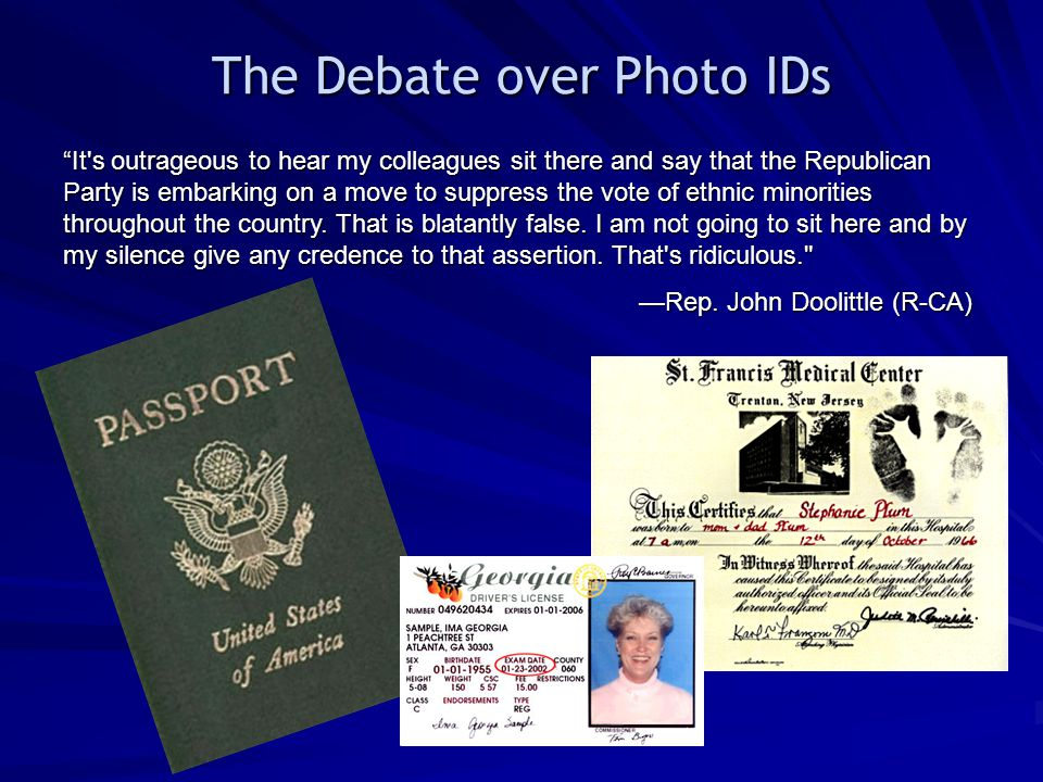 The Debate over Photo IDs