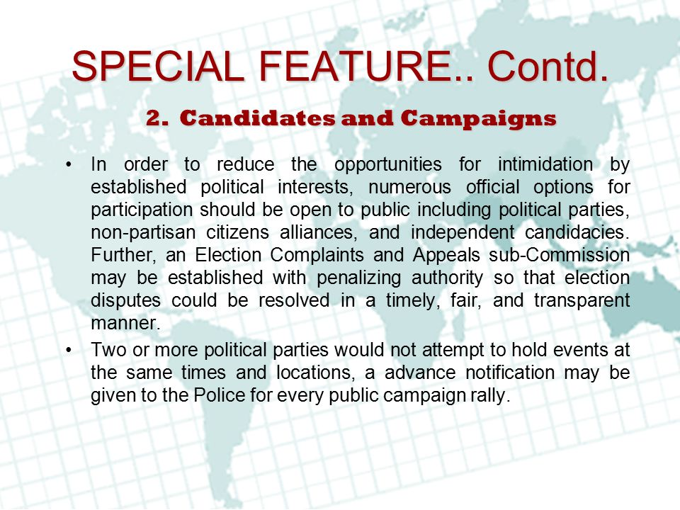 Candidates and Campaigns