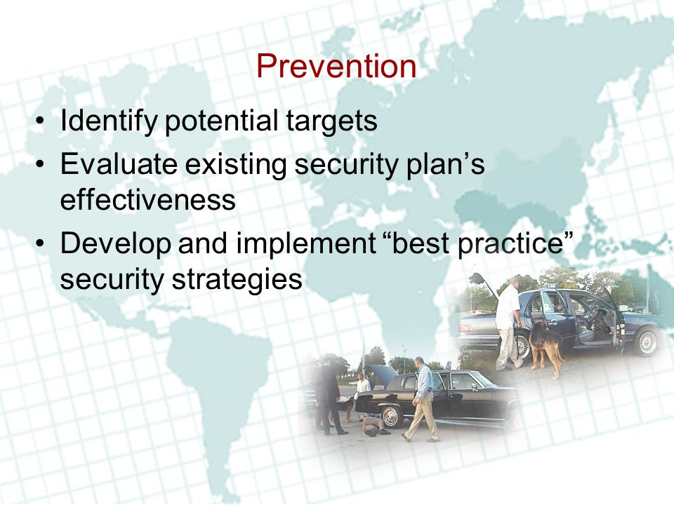 Prevention Identify potential targets