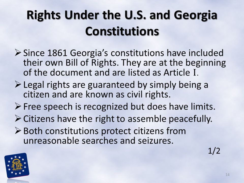 Rights Under the U.S. and Georgia Constitutions