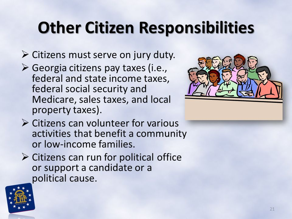 Other Citizen Responsibilities