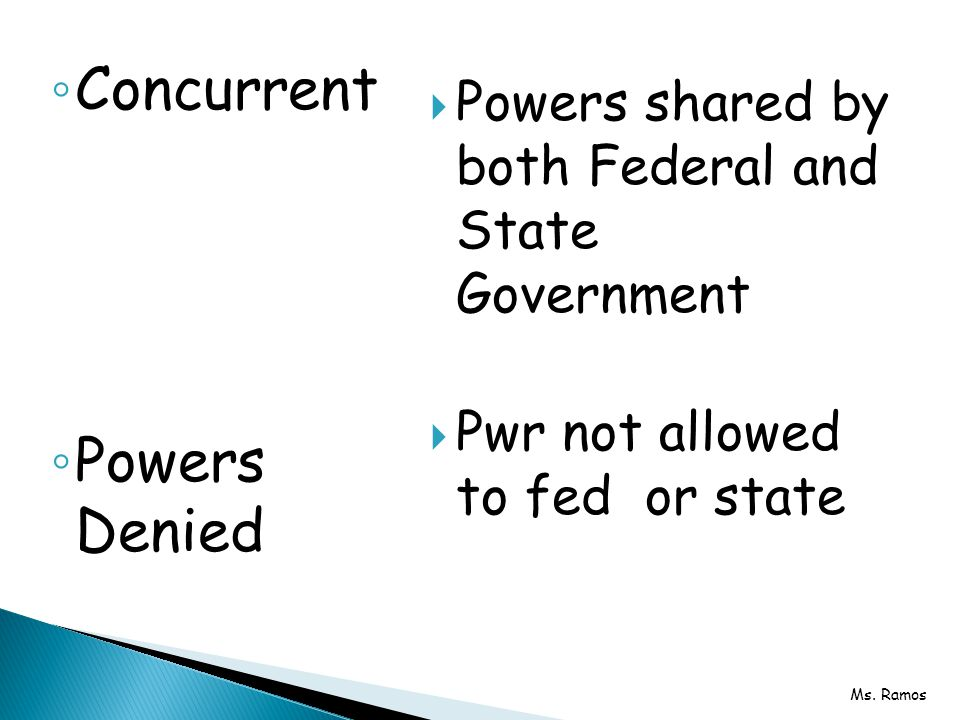 Concurrent Powers Denied
