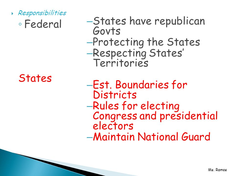 States have republican Govts Protecting the States