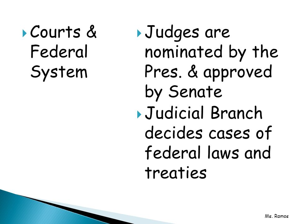 Courts & Federal System