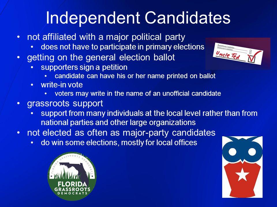 Independent Candidates