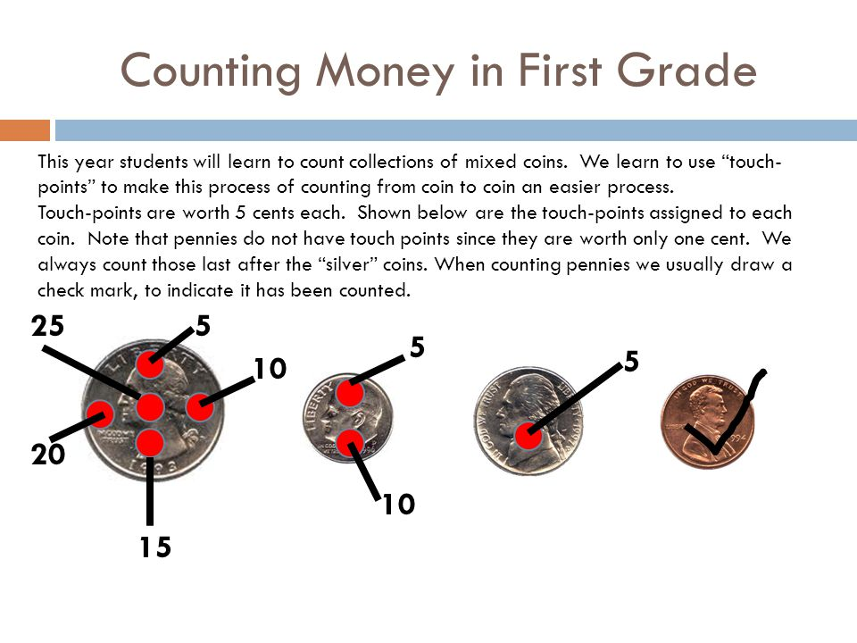 Counting Money in First Grade
