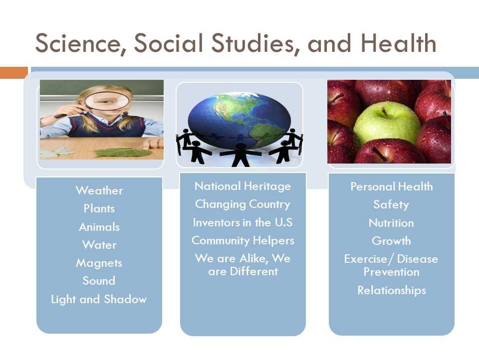Science, Social Studies, and Health