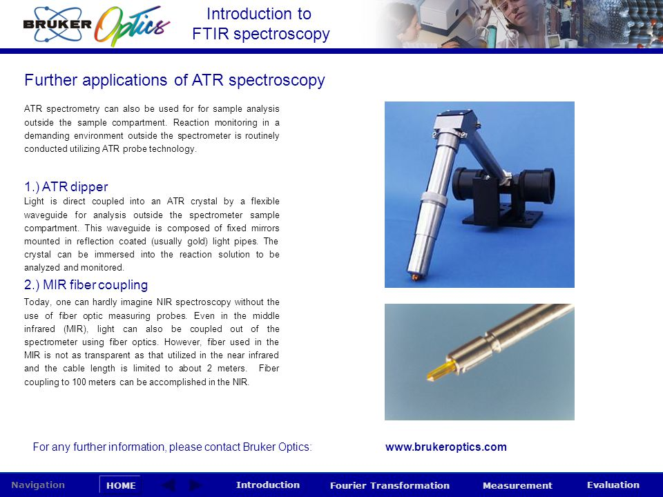 Further applications of ATR spectroscopy