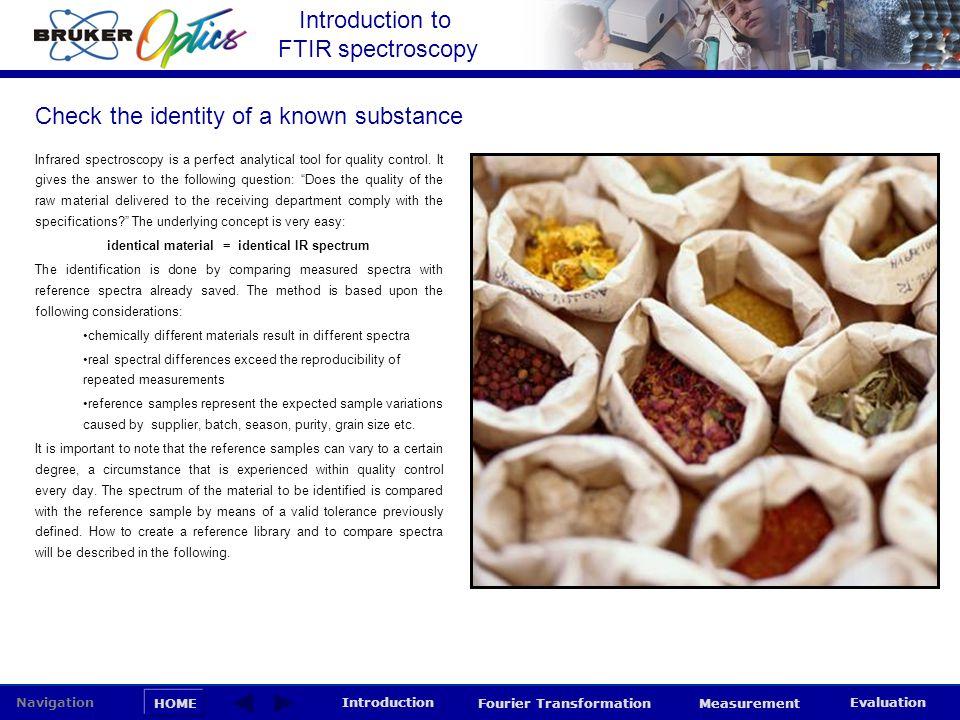 identical material = identical IR spectrum