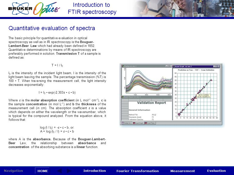 Quantitative evaluation of spectra