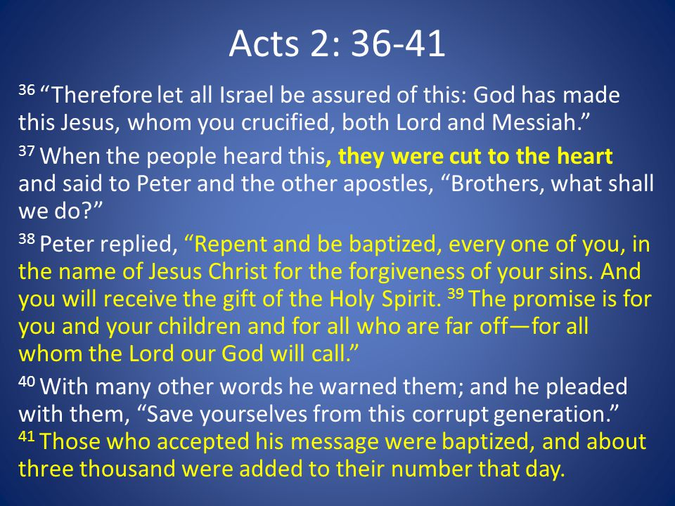 Acts 2: 36-41